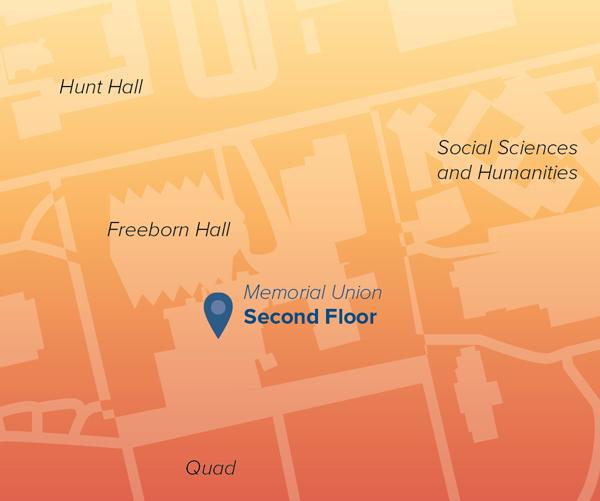 Campus map showing Memorial Union where CCLASS is located